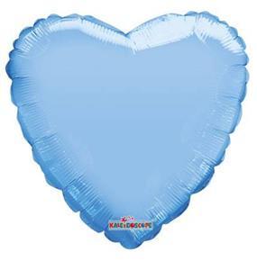 Niebieski pastelowy balon foliowy w kształcie serca