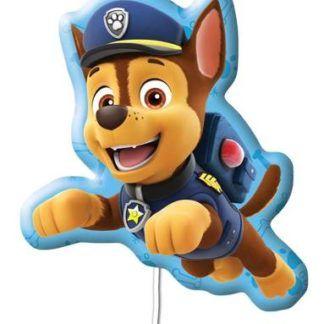 Balon foliowy w kształcie psa Chase z Psiego Patrolu