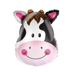 Balon foliowy w kształcie głowy krowy