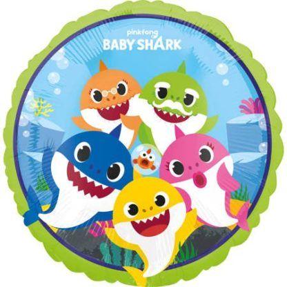 Balon foliowy z kolorowymi rekinami