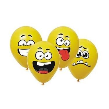 Balony z naklejkami w kształcie buziek