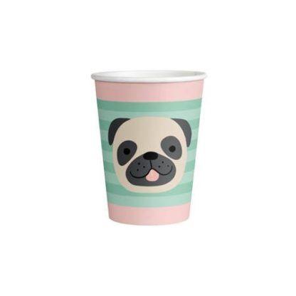 Kubeczek papierowy z psem w pastelowych kolorach