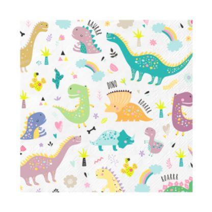 Serwetka z dinozaurami
