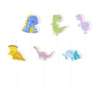 Świeczki na tort w kształcie dinozaurów