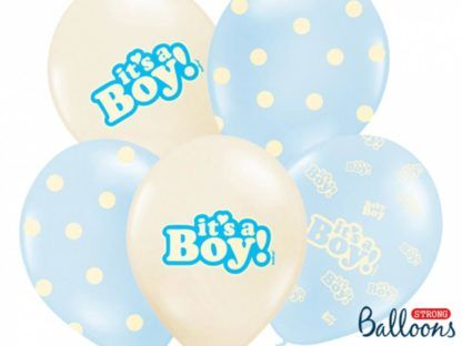 Zestaw balonów lateksowych na baby shower dla chłopca