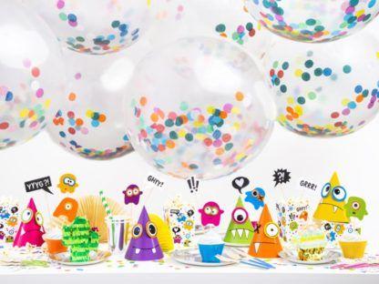 Zestaw balonów lateksowych z konfetti