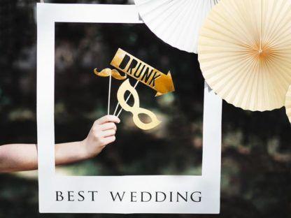 Ramka do zdjęć na ślub z czarnym napisem