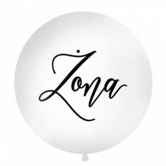 Biały balon z czarnym napisem żona