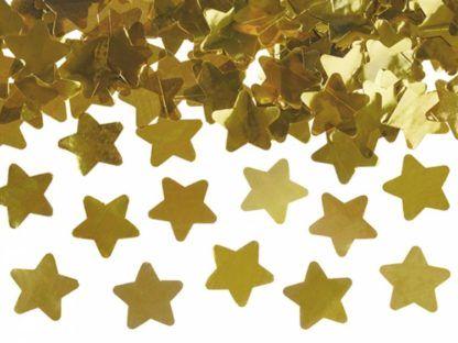Złote konfetti w kształcie gwiazdek
