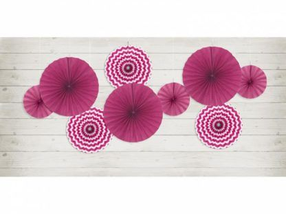 Rozety dekoracyjne w kolorze fuksji