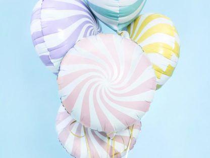 Balon foliowy w kształcie lizaka różowego