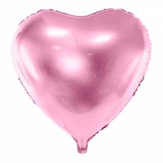 Różowy balon foliowy w kształcie serca