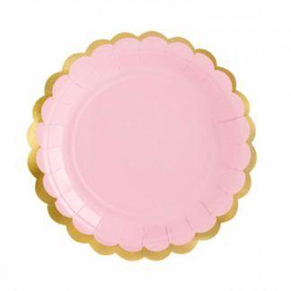Różowy talerzyk w kształcie kwiatka