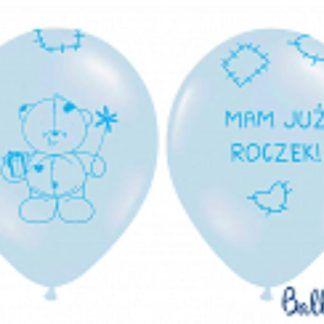 Niebieski balon lateksowy na pierwsze urodziny