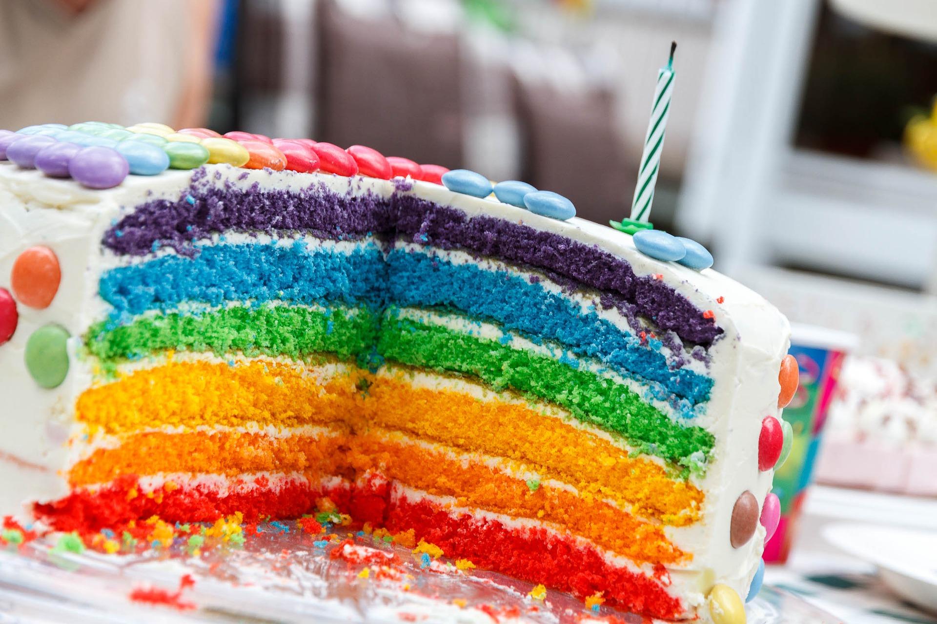 Kolorowe dekoracje na urodzinach dla dzieci